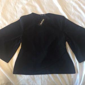 Kimono sleeve tie waist top